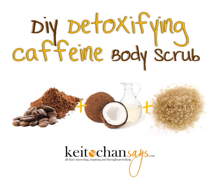 diy caffeine scrub
