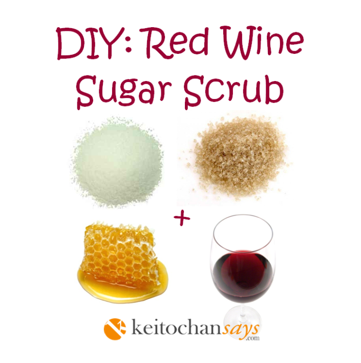 diy red wine scrub
