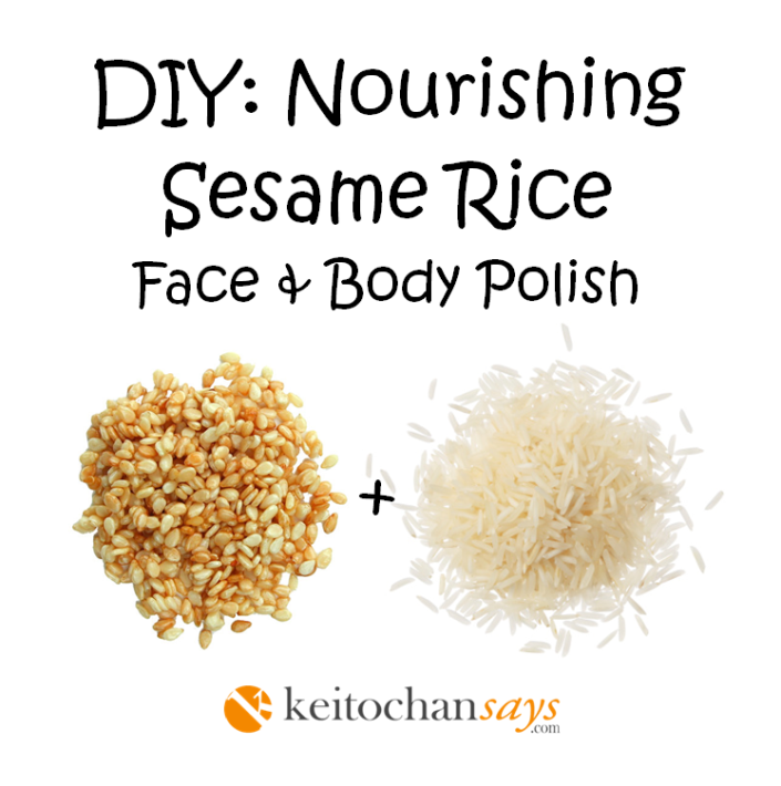 DIY Sesame rice scrub