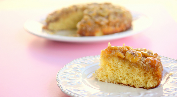 banana-coconut-upside-down-cake-586x322